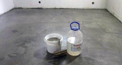 Бетонная стяжка и жидкое стекло