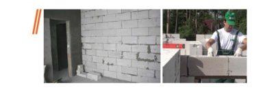 Укладка плитки на газосиликатные блоки