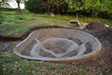 Строительство пруда на даче