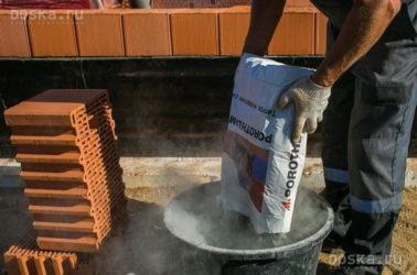 Теплый раствор для керамических блоков своими руками