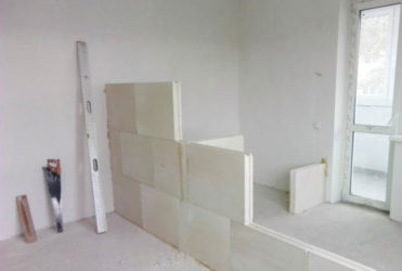 Перегородки в квартире из пазогребневых блоков