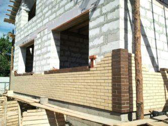Отделка фасада дома из газобетонных блоков