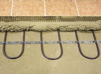 Укладка греющего кабеля в стяжку