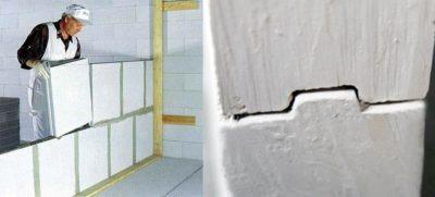 Как возвести стену из пазогребневых блоков?