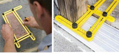 Линейка для измерения углов в строительстве