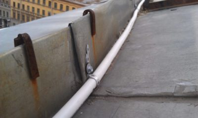 Прокладка кабеля по кровле
