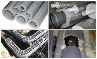Как одеть утеплитель на канализационную трубу?