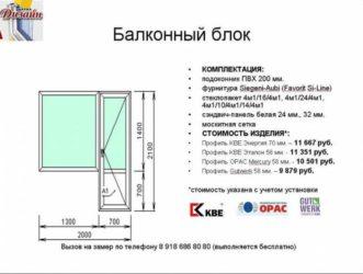 Как замерить балконный блок?
