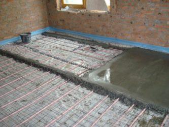 Как правильно залить стяжку под теплый пол?