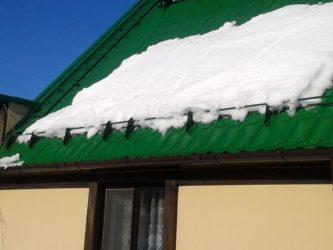 Защита кровли от снега