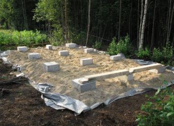 Блоки под фундамент для дачи