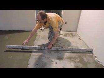 Ремонт стяжки пола плиточным клеем