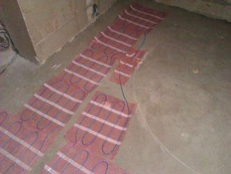 Греющий кабель под плитку без стяжки