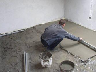 Цементная стяжка пола какая самая лучшая?
