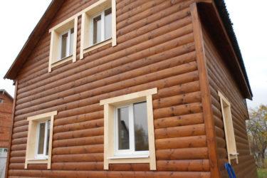 Обшивка деревянного дома блок хаусом снаружи