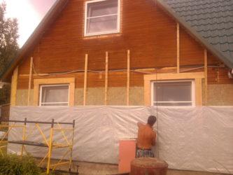 Утеплитель для брусового дома снаружи под сайдинг