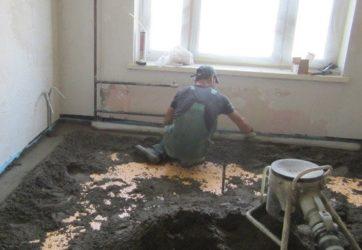 Стяжка пола на кухне в хрущевке