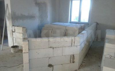 Каркасные перегородки в доме из газобетона