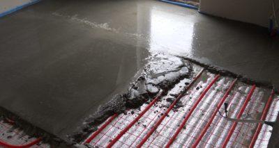 Заливка стяжки под теплый пол