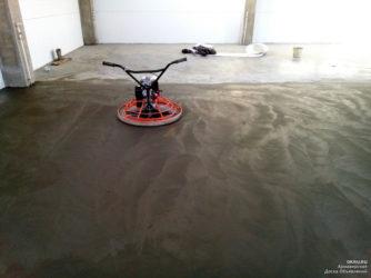Затирка стяжки пола вертолетом