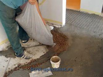 Полусухая стяжка с керамзитом своими руками