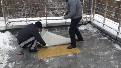 ПВХ кровля монтаж зимой