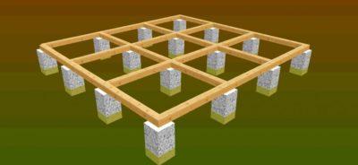 Строительство опорно столбчатого фундамента