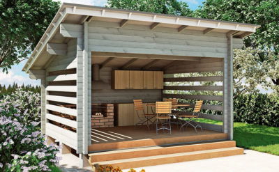 Строительство летней кухни на даче