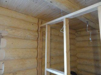 Каркасные перегородки в деревянном доме своими руками