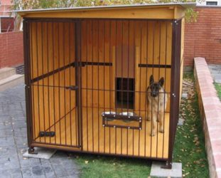 Строительство вольера для собаки своими руками