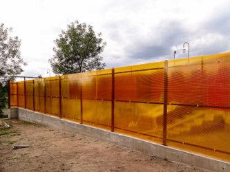 Строительство заборов из поликарбоната