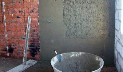 Штукатурка кирпичных стен цементно песчаным раствором