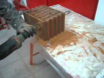 Чем пилить керамические блоки?