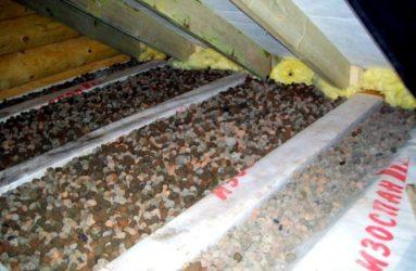 Сыпучий утеплитель для потолка