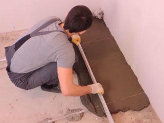 Стяжка пола цементом своими руками инструкция