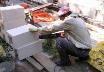 Чем резать газобетонные блоки?