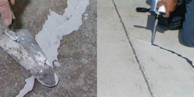 Как заделать трещины на стяжке пола?