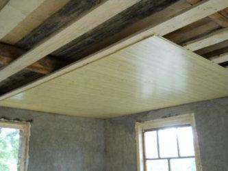 Потолок в каркасном доме своими руками