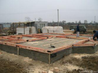 Строительство каркасного дома на бетонном фундаменте