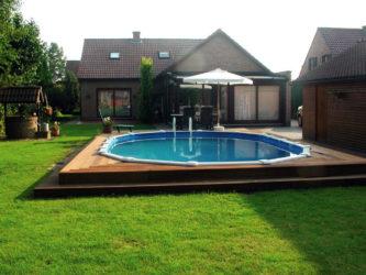 Строительство бассейна на даче