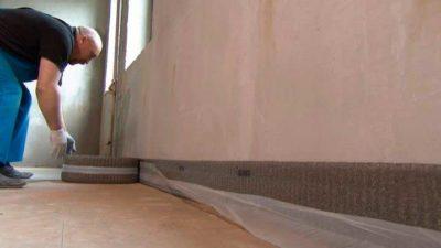 Укладка демпферной ленты для стяжки