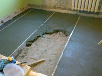 Стяжка пола сухая или мокрая для квартиры?