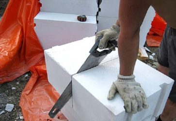 Как распилить газобетонный блок?