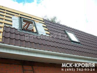 Кровля мансардной крыши металлочерепицей