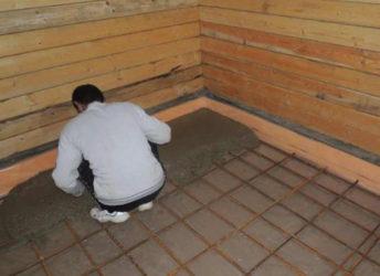 Стяжка пола в бане под деревянный пол