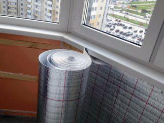 Утеплитель для стен балкона внутри