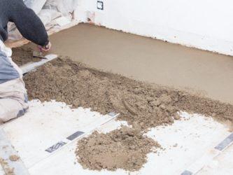 Стяжка пола своими руками в квартире пескобетоном