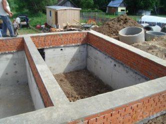 Строительство цокольного этажа своими руками