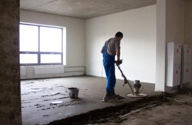 Ремонт цементной стяжки пола