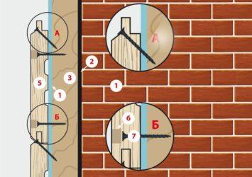 Крепление блок хауса к стене